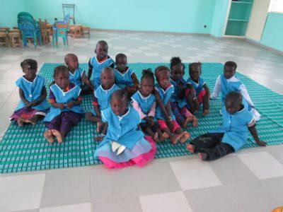 Ena od skupin otrok v novem vrtcu. (Foto: P.Š.)