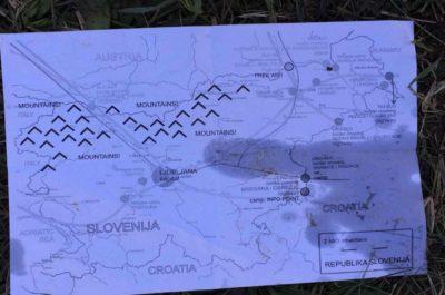 Med migranti je bil najden zemljevid Slovenije 1