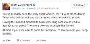 Muslimanski najstnik, po aretaciji zaradi izuma prejel vabilo Zuckerberga, zdaj se seli v Katar 1