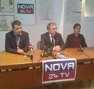 Novinarska ekipa pripravljena na štart Nove24TV 1
