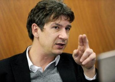 Grega Repovž, odgovorni urednik in solastnik Mladine, slika: STA