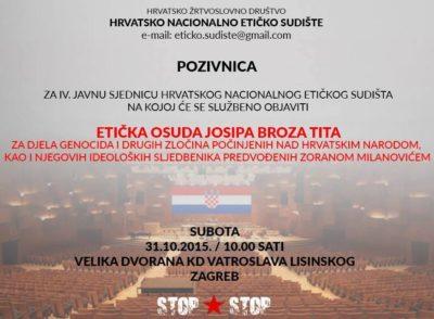 Sojenje Josipu Brozu Titu za genocid nad Hrvati 3