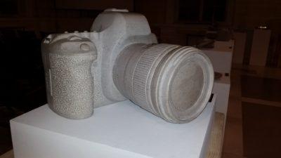 Izdelek študenta oblikovanja kamna na Višji strokovni šoli v Sežani (foto: N. K.)