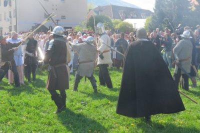 Uprizoritev slovenskega kmečkega upora pred 500 leti (Foto: STA)