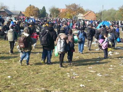 Nov val migrantov v Rigoncah (foto: Nova24TV)