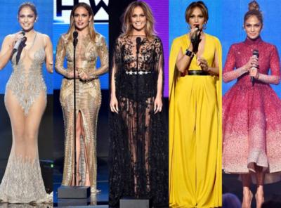 Jennifer Lopez se je na podelitvi večkrat preoblekla (foto: Instagram).