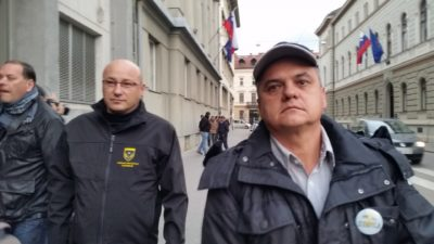Zoran Petrovič na levi in Radivoj Uroševič na desni (foto: N. K.)