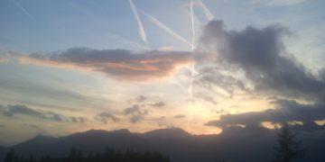 nebo, letala, črte