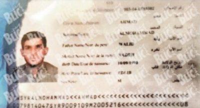 Fotografija potnega lista (foto: Twitter).