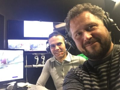 Jernej Damjan (levo) v vlogi strokovnega komentatorja (foto: T. C.).