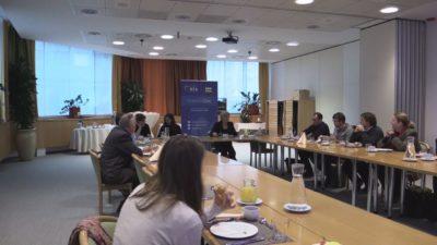 Delovni zajtrk evropske poslanke Romane Tomc (foto: Nova24TV).