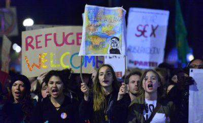 Protest proti spolnim zlorabam s strani migrantov; Foto: epa