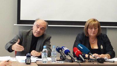 Bogomir Kovač in Metka Tekavčič (foto: Nova24TV/J. F.).