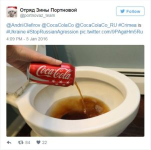 Coca Cola razburila najprej Ruse, nato pa še Ukrajince 1