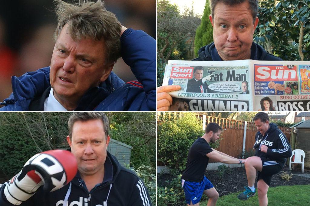 Lous van Gaal (levo zgoraj) že ima tri točke, Neil Custis (ostale tri slike) pa je že začel z intenzivno vadbo (foto: facebook).