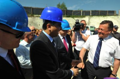 Katarski veleposlanik in Zoran Janković; Foto: STA