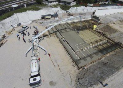 Gradbišče iz zraka; Foto: STA
