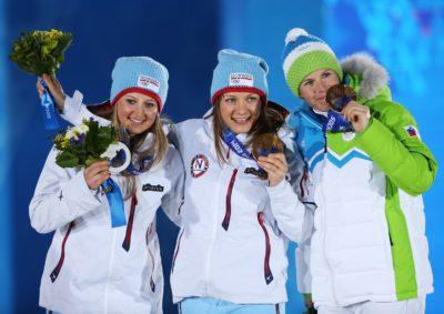 Na olimpijskih igrah v Sočiju je Vesna Fabjan osvojila bronasto medaljo (foto: epa).