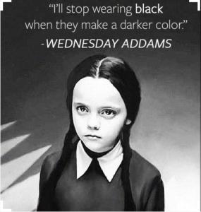Wednesday Addams. Foto: Twitter