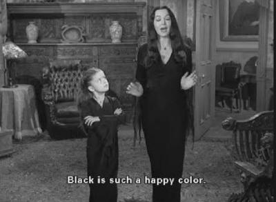 """Črna je vesela barva."" Wednesday Addams."