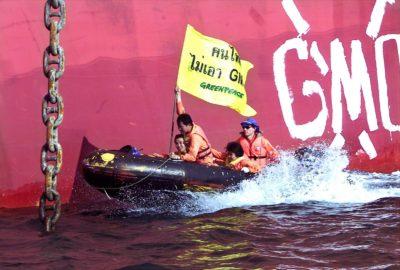 Greenpace-ovi aktivisti na Tajskem (foto: epa)