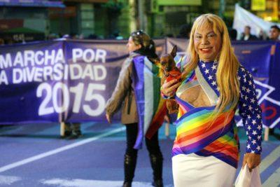 Poljuben spolni izraz na Paradi ponosa v Urugvaju (foto:epa).