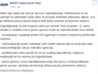 Hrvati razvili formulo zaposlovanja na ministrstvih, bi se Slovenci lahko zgledovali po njih? 1