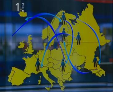 """Zemljevid """"nacionalkine"""" Evrope. Foto: 4d.rtvslo.si/printscreen"""