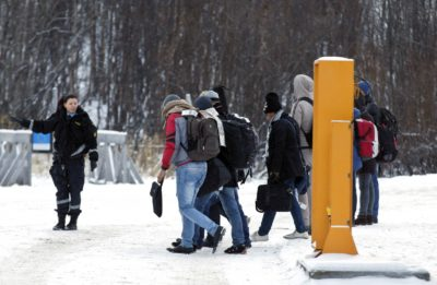 Migranbti na norveško-ruski meji (foto: epa).