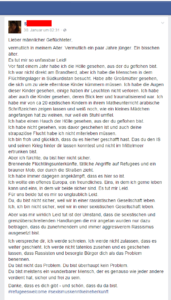 Pismo mlade liberalke s Facebooka (foto: printscreen/Fb).