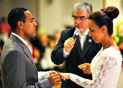 Marcos in Letícia Tavares na poroki (foto: osebni arhiv).
