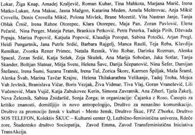 Del 163 podpisnic in podpisnikov (foto: printscreen/doc).