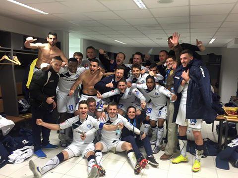 Celjani so si po zmagi nad Mariborom dali duška (foto: facebook).