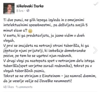 Raper in nekdanji član stranke Zares Darko Nikolovski (Foto: FB)
