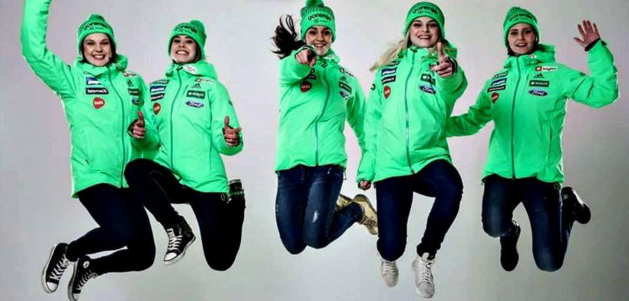 Slovenska ženska reprezentanca zagotovo sodi v sam vrh ženskih skokov (foto: facebook).