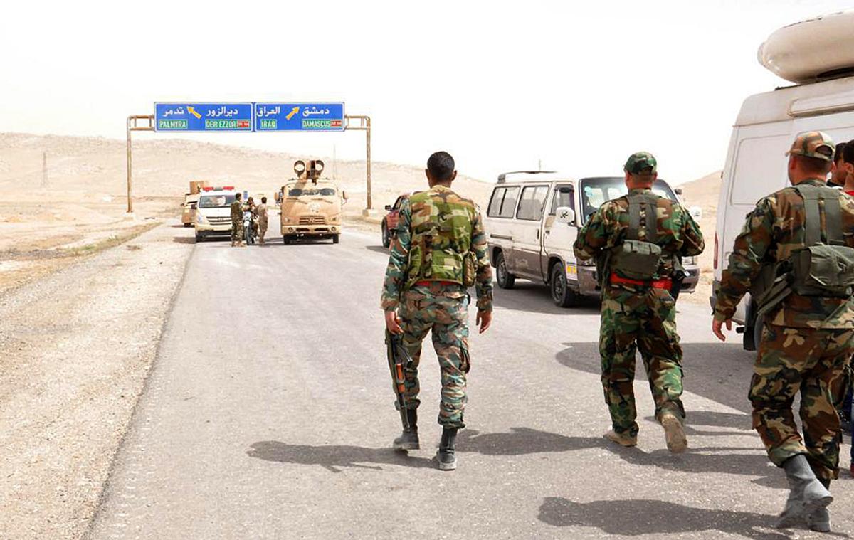 Sirska vojska v Palmiri (Foto: epa)