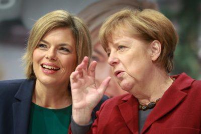 Julia Klöckner in Angela Merkel. Foto: epa