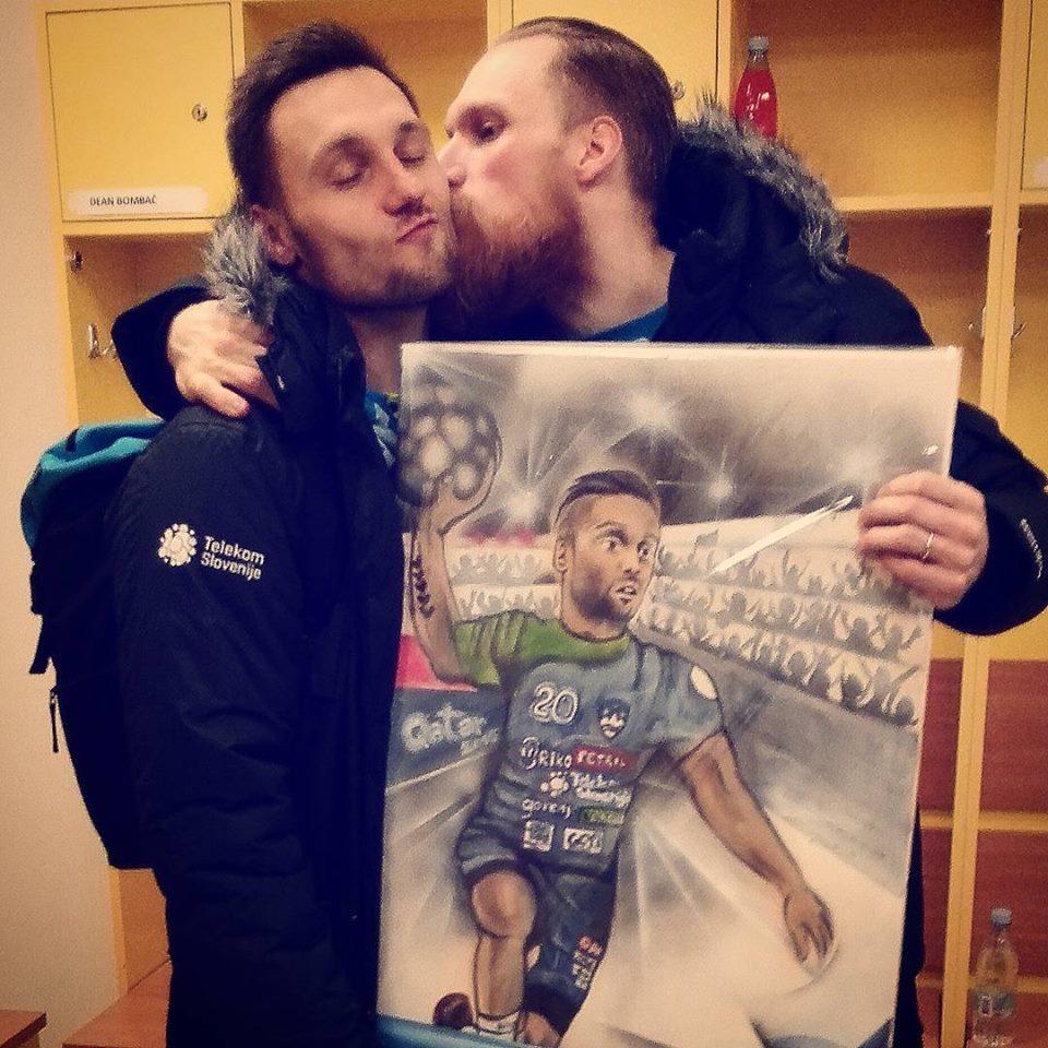Miha in Luka sta se ujela šele kasneje, zdaj pa sta zelo povezana (foto: facebook).