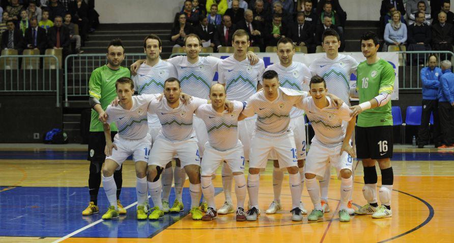 Alen Fetić je dosegel edini gol na prvi tekmi dodatnih kvalifikacij proti Španiji (foto: Drago Perko/futsal.si)
