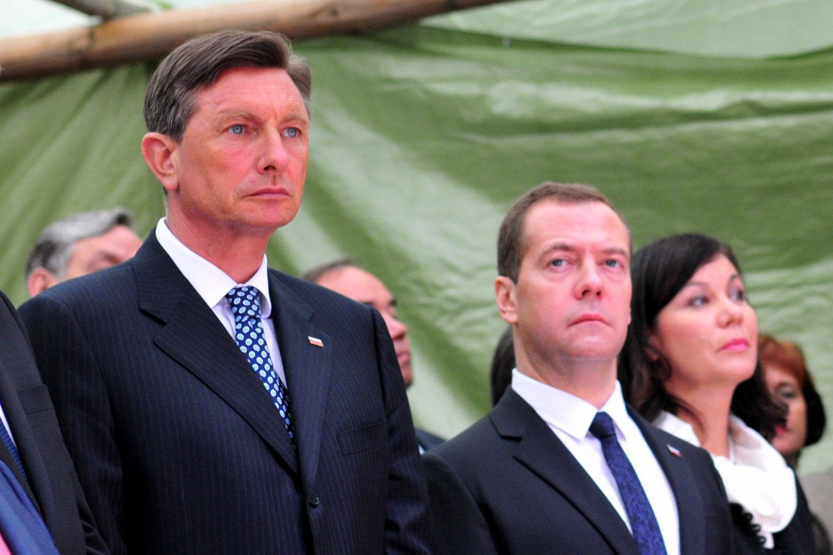 Borut Pahor in ruski premier Dimitrij Medvedjev (Foto: epa).