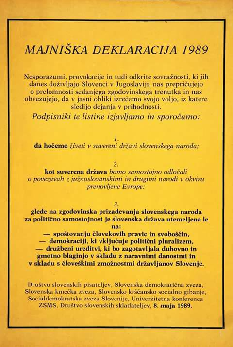 Na današnji dan: 27 let od znamenite majniške deklaracije, ki je tlakovala pot samostojni državi 2