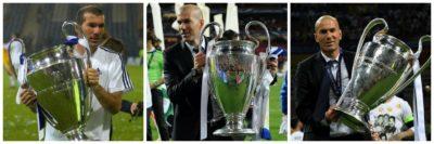 Zinedine Zidane je Ligo prvakov kot prvi osvojil v treh različnih vlogah (foto: twitter).