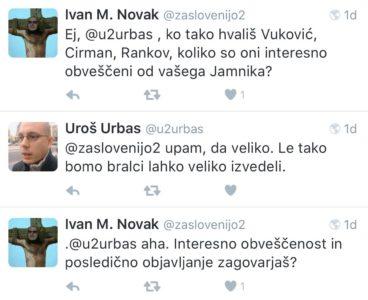Da ima velik vpliv na uredniško politiko dokazuje njegov tweet v katerem hvali sodelovanje Jamnika in naveze Cirman, Vukovič Rankov. To so novinarji, ki dobivajo mesečno 10.000 EUR za nekaj člankov, ki jih napišejo za Siol. Net.