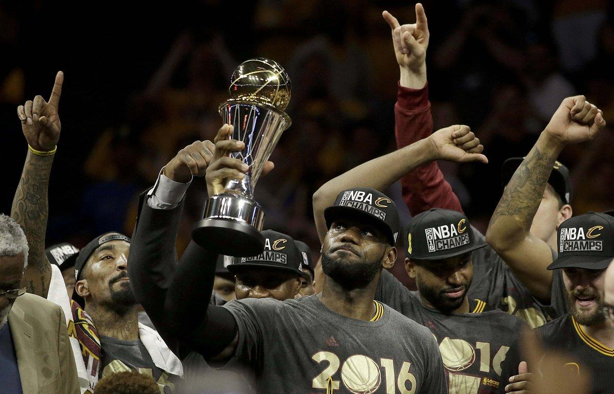 LeBron James je povsem zasluženo postal MVP finala lige NBA (foto: twitter).