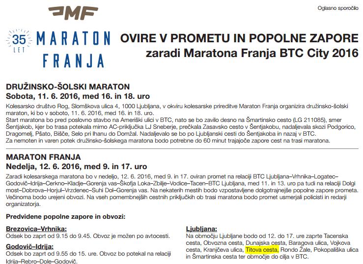 Maraton Franja povrnil Titovo cesto v življenje 1