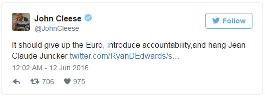 Zvezda showa Monty Python bi obesil Jean Claude Junckerja 1
