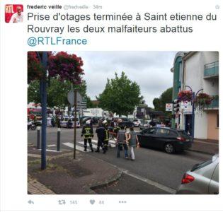 Francija: Policija ubila moška, ki sta zajela talce 3