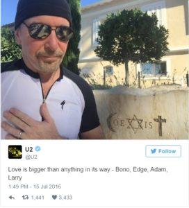 Med terorističnim napadom v Nici sta se nahajala tudi Bono in Stallone 7