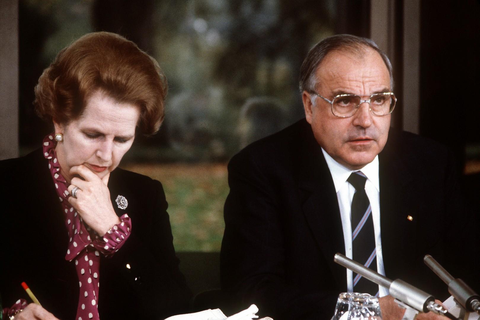 Margaret Thatcher in Helmut Kohl (foto: epa)