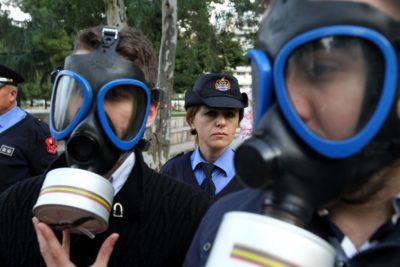 Protesti proti kemičnemu orožju v Tirani, Albanija (foto: epa)